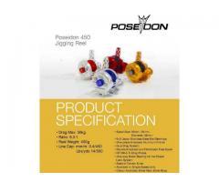 Poseidon 450 Jigging reel with T-bar handle (Lefty) - BNIB