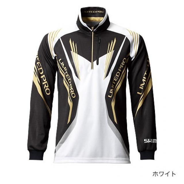 White dry fit long sleeve fishing shirt shimano limited for Shimano fishing shirts