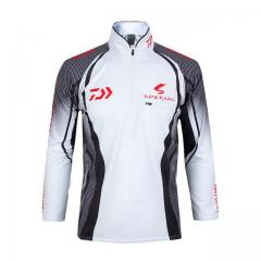 White Daiwa long sleeve Dry-fit shirt - 2016 special edition