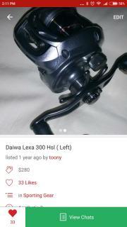 Daiwa luxa 300hsl. Left hand