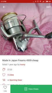 Made in Japan daiwa freams 4500