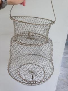 New Foldable metal prawn/live bait net