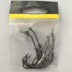 Weedless Hooks with screwlock & weight