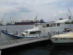 Fibreglass walkaround boat