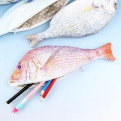 Realistic Fish Red Snapper Pencil/Lure Case [Brand New]