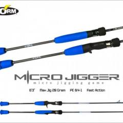 Storm micro jigger spin rod