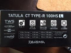 Daiwa Tatula CT Type R with Valetta X Rod