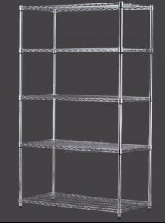 5 tier stainless steel rack