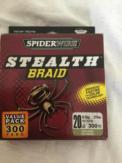 Spider wire 20 lb