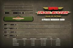 Rapala BC Trailblazer 4 Pc travel Rod