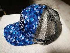 Sunline 40th Anniversary Hello Kitty Limited Edition Mesh Cap & Neck Cool (Blue Camo Design)