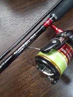 Shimano sephia SI paired with a sephia SS C3000SDH