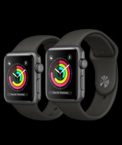 Brand new apple series 3 42mm space gray case watch