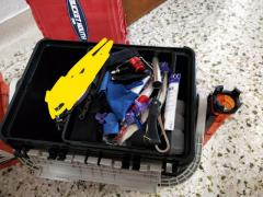 Tackle box. Give up fishing