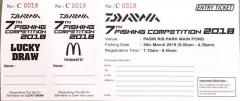 Daiwa fishing competition ticket