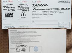 Diawa Fishing Competition Ticket