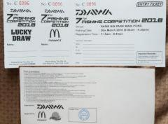 Looking for Daiwa competition ticket