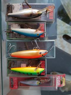 Collection of Rapala and Yozuri lures