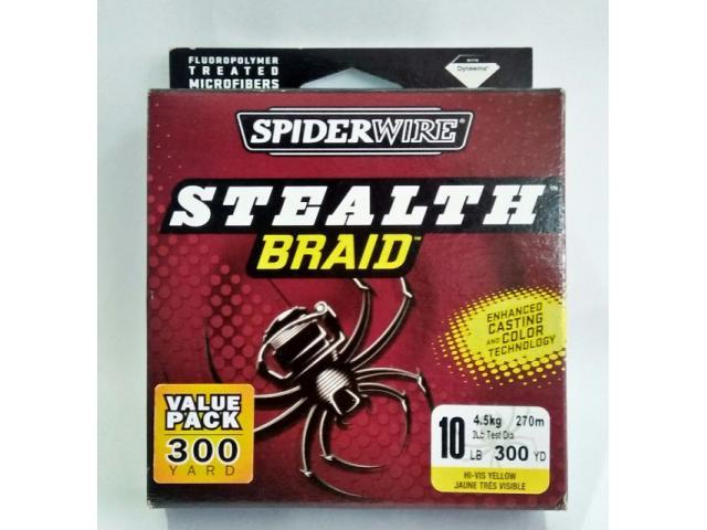 Spiderwire Stealth Braid 10lbs(300yds)