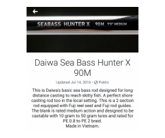 Daiwa Sea Bass Hunter 96m