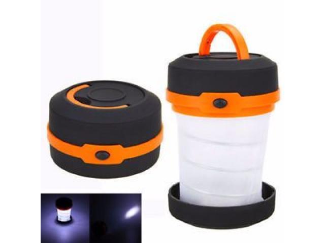 Folding portable led camping light /mini camping lantern