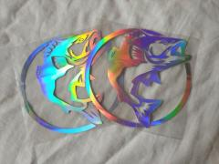 (INSTOCK) SILVER-HOLOGRAPHIC FISH DECAL/STICKER