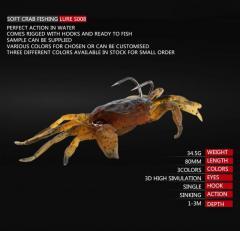 Soft Crab fishing lure