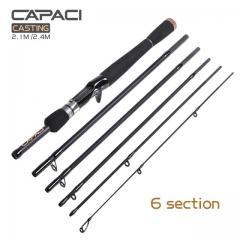 CAPACI 6 piece bait casting rod
