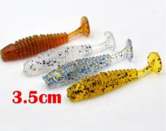 Micro Soft plastic fishing lure - T-tail (Pack of 10)