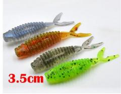 Micro Soft plastic fishing lure - Split-tail (Pack of 10)