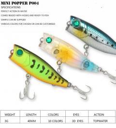 Mini popper fishing lure P004