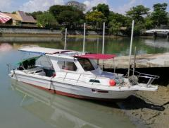 Fiberglass Japan Fishing Boat w/ Brand New Double 200 HP Suzuki Engine S$50,000