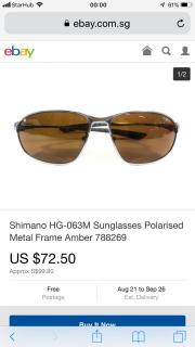 Shimano Sunglass Metal Frame (Polarised)
