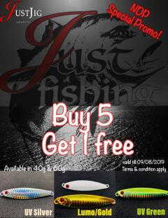 NDP special buy 5+1 free( promo till 08/09/2019