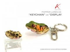 S$ 2 for these Handmade realistic frog as Keychain / Display / collectible.