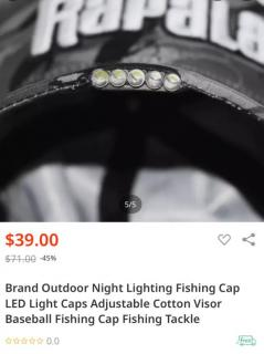Brand News LED light Fishing Cap-Night Fishing