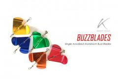 Good quality anodized aluminium buzz-blades for your lures.