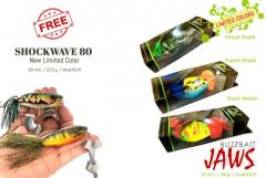 Buy 3 JAWS Buzzbait Limited colors and free 1 Shockwave Buzzbait limited color.