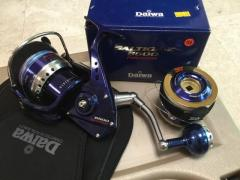 Excellent Cond. Daiwa 6500 Expedition + Saltiga Z6500 Spare Spool + Plano hard casing