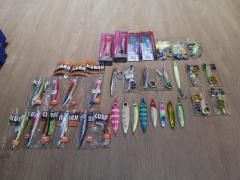 New & used fishing jigs