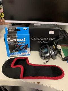 Mint Shimano Curado 151HG Lefty W/ New YGK Line