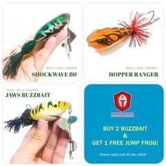 Buy 2 Big buzzbait & Get 1 Free big Jump Frog!