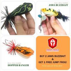 Buy 2 Big 32.5 g. Jump Frog & Get 1 FREE 28.0 g. Buzzbait