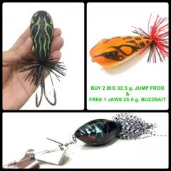 Buy 2 pieces of  32.5 g. Jump Frog & Get 1 FREE 28.0 g. Buzzbait