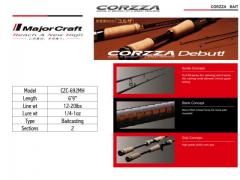 MajorCraft Corzza Bait Cast Rod