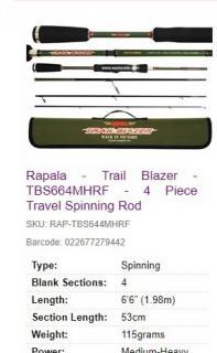 Rapala travel blazer MH 4. Pcs rod