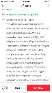 Tesa flash light (high quality)