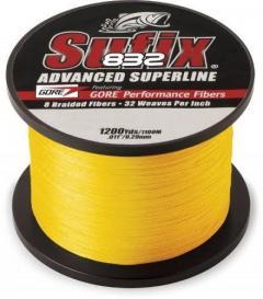 Sufix 832 80lb 600yd hi vis yellow