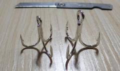 Treble hooks for sale size 1/0 & 1