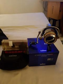 Daiwa certate 2500 custom with Bassart knob and spare rcs spool